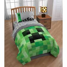 minecraft bedding bed in a bag with bonus tote walmart com