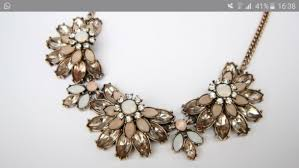 coloured statement necklace images Jewels necklace statement necklace statement flowers rose jpg