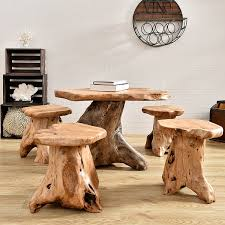 Tree Stump Side Table Coffee Table Log Side Table Teak Tree Stump Table Stump End