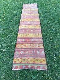 Kilim Kitchen Rug Faded Hot Colors Stunning Turkish Kilim Runner Hallway Decor