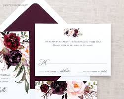 wedding invitations burgundy autumn wedding invitations paperwhites wedding invitations