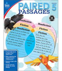 paired passages workbook grade 5 carson dellosa publishing