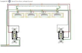 i need a diagram for wiring three way switches to multiple lights