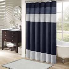 Navy Blue Curtains Walmart Blue Shower Curtain Walmart Blue Bathroom Pinterest Shower