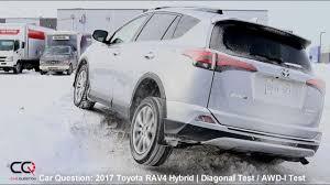 lexus wheels on rav4 awd i test 2017 toyota rav4 hybrid diagonal snow ice test