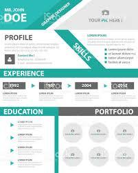 Resume Vector Creative Resume Business Profile Cv Vitae Template Layout Design