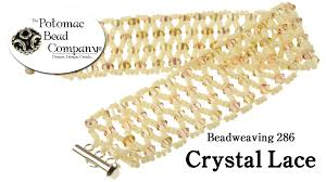 make a crystal lace bracelet youtube