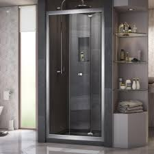 Frameless Bifold Shower Door Dreamline Butterfly 34 In To 35 1 2 In X 72 In Semi Frameless