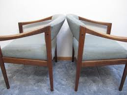 Mid Century Dining Chairs Upholstered Buy Pair Danish Modern Armchairs Teak Wood Arm Chairs Mid Century