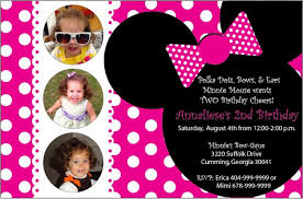 editable minnie mouse birthday invitations free custom
