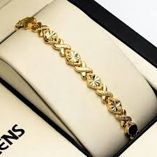 ladies bracelet gold jewelry images Women bracelet 7 3 quot chain charm link 18k yellow gold filled jpg