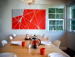 designs ideas dining room with abstract diy wall art and wood