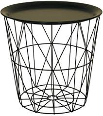 wire and wood basket side table black metal wire basket wooden top side table amazon co uk kitchen