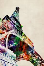 eiffel tower watercolor canvas print by michael tompsett icanvas