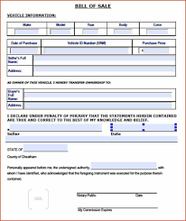 Vehicle Bill Of Sale Template by Bill Of Sale Form Tn Business Form Templates