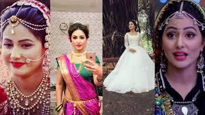 akshara wedding hairstyle akshara hina khan outfits from yeh rishta kya kehlata hai youtube