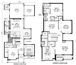 modern house floor plans stunning decor two storey house plans