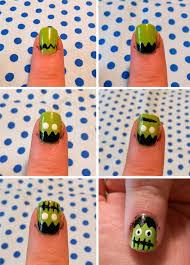 easy halloween nail art tutorial neon rattail