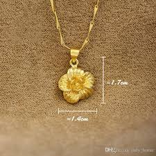 gold flower pendant necklace images Wholesale 2017 hot women alluvial gold flower design love heart jpg