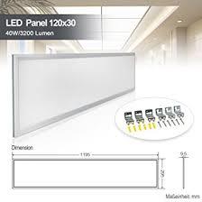 deckenle küche led panel deckenleuchte 120x30cm neutralweiss 4000k ultraslim 40w