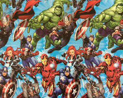marvel wrapping paper marvel gifts etsy