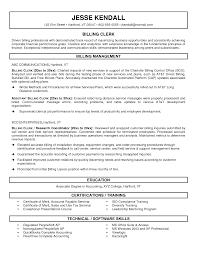 Sample Office Clerk Resume Billing Clerk Resume Sample Medical Billing Clerk Resume Sample Resume
