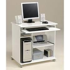 achat bureau pas cher city bureau informatique classique blanc mat l 76 cm achat bureau