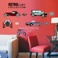 cartoon retro cars wall stickers for kids rooms child room 29