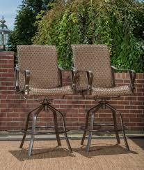 bar height patio set rochester woven 5pc bar height high dining patio set u2013 la z boy