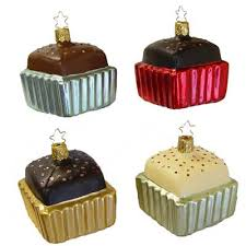 petit fours christmas ornament 68080 chocolate chillout collection