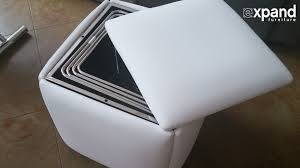 Flexible Love Chair by Demonstration Of Cube 5 In 1 Ottoman Space Saving Chair Youtube