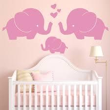 stickers elephant chambre bébé éléphant de bande dessinée sticker mural bébé pépinière coeur