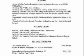 Sample Welder Resume by Sample Resume For Welding Position Welder Resume Free Updates