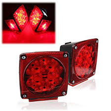 led tail lights for a trailer audew 2 x 12v led tail light red submersible square trailer truck