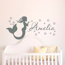 wall decal best decor mermaid decals for walls mermaid wall mermaid decals for walls personalized name mermaid girls kids wall art stickers decal home decoration wall