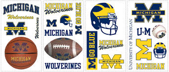 university michigan wolverines removable wall decals wall2wall