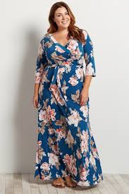 navy maxi dress navy blue floral plus size maxi wrap dress