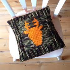 fall decor deer antler pillow cover crochet home decor