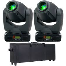american dj lighting equipment 2 american dj inno spot pro moving head lights with case package