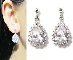 clip on bridal earrings clip on wedding earrings earrings jewelry
