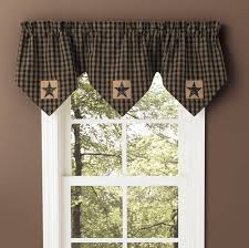 Black Window Valance Point Valances Piper Classics