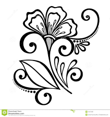 Decorative Flowers by Decorative Flower With Leaves Stock Image Image 34572901