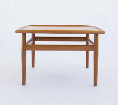 Modern Teak Outdoor Furniture by Danish Modern Teak Square Side Coffee Table By Grete Jalk U2013 Den Møbler