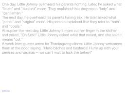 funny thanksgiving joke jokes one day little johnny overheard his parents fighting
