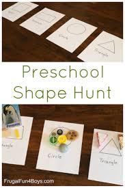 preschool shape scavenger hunt preschool shapes simple shapes