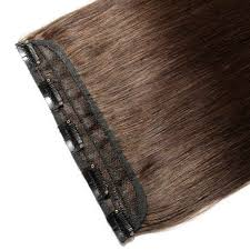 4 Piece Clip In Hair Extensions by Piece Straight Clip In Remy Hair Extensions 2 Dark Brown