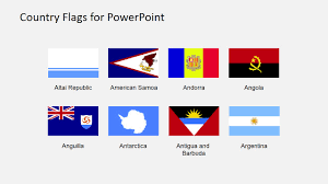 Country Flags Of The World Country Flags Clipart For Powerpoint A To B Slidemodel