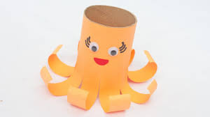how to create a cute toilet paper roll octopus diy crafts