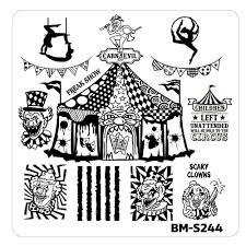 halloween stamp halloween nail stamp plates house of horrors carn evil u2013 bundle