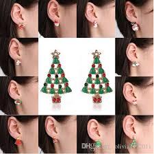 womens stud earrings 2018 the ear stud earrings christmas earrings santa snowman